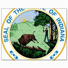 Great Seal Of Indiana Canvas 11  X 14