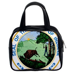 Great Seal Of Indiana Classic Handbag (two Sides)