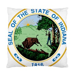 Great Seal Of Indiana Standard Cushion Case (one Side) by abbeyz71