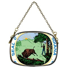 Great Seal Of Indiana Chain Purse (two Sides)