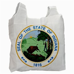 Great Seal Of Indiana Recycle Bag (two Side)