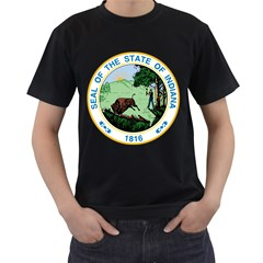 Great Seal Of Indiana Men s T Shirt (black)