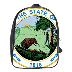 Great Seal Of Indiana School Bag (large)