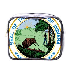 Great Seal Of Indiana Mini Toiletries Bag (one Side)