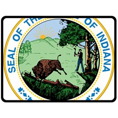 Great Seal Of Indiana Fleece Blanket (large)