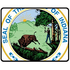 Great Seal Of Indiana Fleece Blanket (medium)