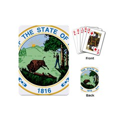 Great Seal Of Indiana Playing Cards (mini)