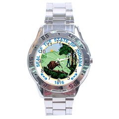 Great Seal Of Indiana Stainless Steel Analogue Watch
