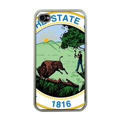 Great Seal Of Indiana Apple Iphone 4 Case (clear)