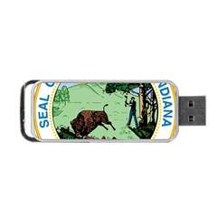 Great Seal Of Indiana Portable Usb Flash (two Sides)