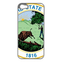 Great Seal Of Indiana Apple Iphone 5 Case (silver)