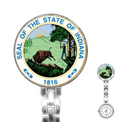 Great Seal Of Indiana Stainless Steel Nurses Watch