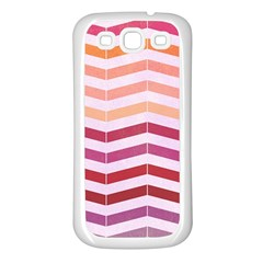 Abstract Vintage Lines Samsung Galaxy S3 Back Case (white)