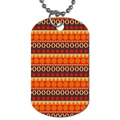 Abstract Lines Seamless Art  Pattern Dog Tag (one Side) by Jojostore