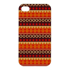 Abstract Lines Seamless Art  Pattern Apple Iphone 4/4s Premium Hardshell Case by Jojostore