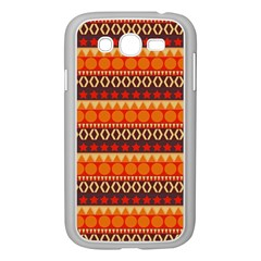 Abstract Lines Seamless Art  Pattern Samsung Galaxy Grand Duos I9082 Case (white)