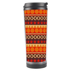 Abstract Lines Seamless Art  Pattern Travel Tumbler
