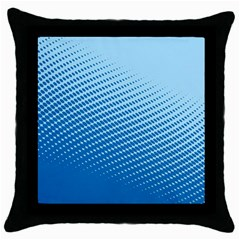 Blue Dot Pattern Throw Pillow Case (black) by Jojostore