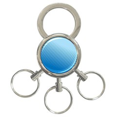 Blue Dot Pattern 3 Ring Key Chains