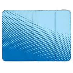Blue Dot Pattern Samsung Galaxy Tab 7  P1000 Flip Case