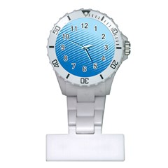Blue Dot Pattern Plastic Nurses Watch by Jojostore