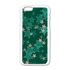 Star Seamless Tile Background Abstract Apple Iphone 6/6s White Enamel Case