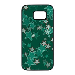 Star Seamless Tile Background Abstract Samsung Galaxy S7 Edge Black Seamless Case by Jojostore