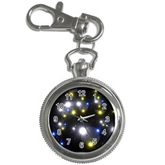Abstract Dark Spheres Psy Trance Key Chain Watches