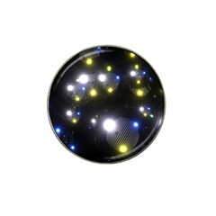 Abstract Dark Spheres Psy Trance Hat Clip Ball Marker (4 Pack)