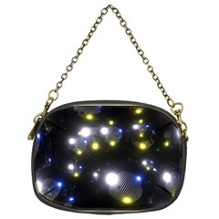 Abstract Dark Spheres Psy Trance Chain Purse (one Side)