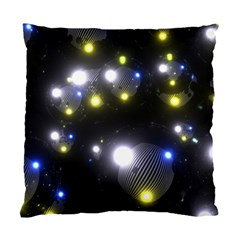 Abstract Dark Spheres Psy Trance Standard Cushion Case (one Side)