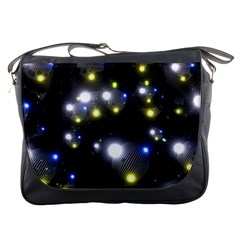 Abstract Dark Spheres Psy Trance Messenger Bag