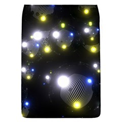 Abstract Dark Spheres Psy Trance Removable Flap Cover (l)