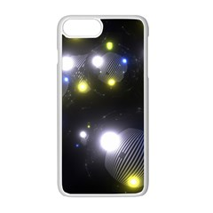 Abstract Dark Spheres Psy Trance Apple Iphone 8 Plus Seamless Case (white)