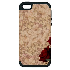 Retro Background Scrapbooking Paper Apple Iphone 5 Hardshell Case (pc+silicone) by Jojostore
