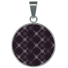 Abstract Seamless Pattern 25mm Round Necklace