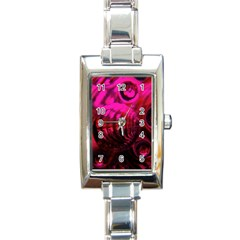 Abstract Bubble Background Rectangle Italian Charm Watch by Jojostore