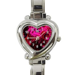 Abstract Bubble Background Heart Italian Charm Watch