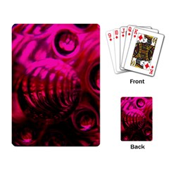 Abstract Bubble Background Playing Cards Single Design