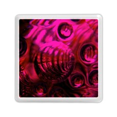 Abstract Bubble Background Memory Card Reader (square) by Jojostore