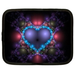 Blue Heart Netbook Case (xl) by Jojostore