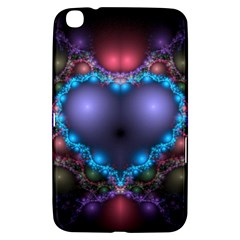 Blue Heart Samsung Galaxy Tab 3 (8 ) T3100 Hardshell Case  by Jojostore
