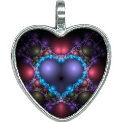 Blue Heart Heart Necklace