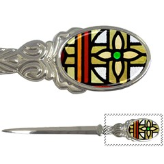 A Detail Of A Stained Glass Window Letter Opener by Jojostore