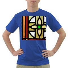 A Detail Of A Stained Glass Window Dark T Shirt