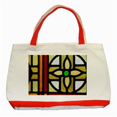 A Detail Of A Stained Glass Window Classic Tote Bag (red) by Jojostore