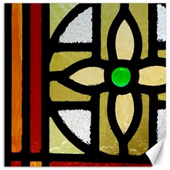 A Detail Of A Stained Glass Window Canvas 20  X 20  by Jojostore