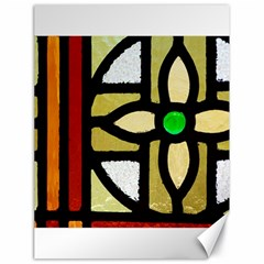 A Detail Of A Stained Glass Window Canvas 18  X 24  by Jojostore