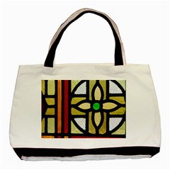A Detail Of A Stained Glass Window Basic Tote Bag (two Sides) by Jojostore
