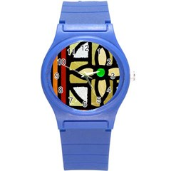 A Detail Of A Stained Glass Window Round Plastic Sport Watch (s)
